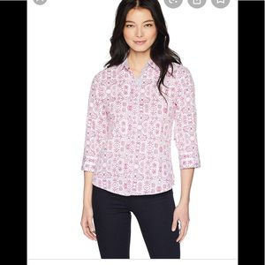 Foxcroft wrinkle free button down size 10 shaped